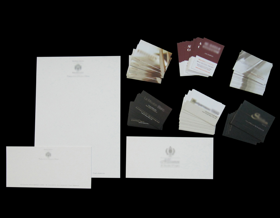 Carte de visite, Tête de lettre, Enveloppe